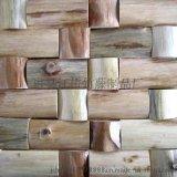 江橋竹藤生態裝飾材料廠家專門爲全國裝修工程公司定做裝飾原木片 防腐不開裂木片 年輪木片飾面板
