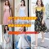 夏季新款欧美雪纺女装连衣裙修身显瘦女式短袖连衣裙