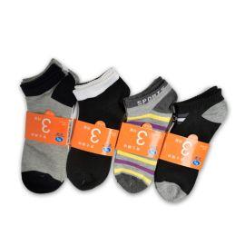 纯色船袜 纯棉男款袜子 超市3对装船袜促销袜 袜厂