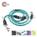 亞馬遜寵物產品多功能反光圓繩寵物牽引繩狗狗戶外跑步