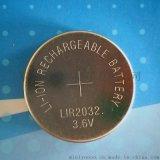 LIR2032紐扣充電電池 3.6V40mah
