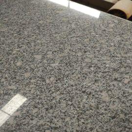 河南本地花岗岩石材梨花白、白麻毛光板成品