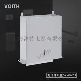 工程镜子后面不锈钢暗装擦手纸架 镜后式纸巾盒