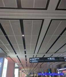 吕梁铝网格天花 铝合金网格吊顶 防护隔断铝板网