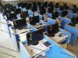 培訓室升降電腦桌-屏風電動升降考試桌-中高考英語聽說電腦桌