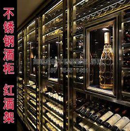 上海不锈钢酒柜定制恒温洋酒柜供应
