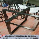 不锈钢广告展示架 拉丝黑钛不锈钢架 好产品-找诺毅