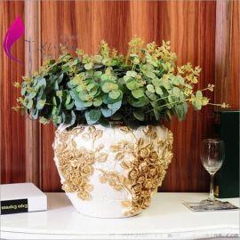 热卖 欧式尤加利(五叉) 高档创意家居装饰 欧式仿真植物 举报