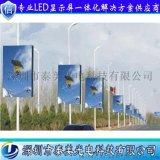 深圳泰美P5户外高清智能led灯杆屏无线控制灯杆广告显示屏