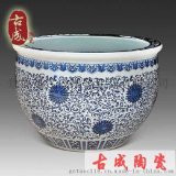温泉澡大缸 坐式陶瓷浴缸 景德镇口径1.2米青花瓷泡澡缸 工厂直销