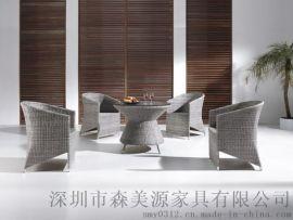 北歐休閒桌椅鐵藝茶幾組合庭院戶外咖啡廳折疊桌椅