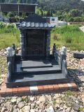 福建G654芝麻黑中式墓碑定做花岗岩墓碑