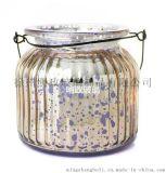 厂家生产 竖条纹插花瓶 玻璃花瓶 蜡烛杯子 香薰蜡烛杯