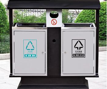 户外环保分类垃圾箱图片