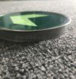 地铁钢化玻璃,带不锈钢钢圈玻璃,圆形玻璃