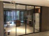极简细框安全玻璃极简夹胶钢化玻璃吊趟门
