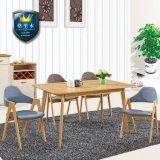 实木餐桌小户型现代简约饭桌子组合长方形橡木餐台6人家用