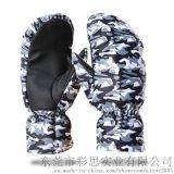 户外滑雪保暖手套手防风防水触屏手套冬运动防滑骑行手套ODM贴牌