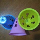 彩灯轮滑投影桩发光桩圆孔防风桩直排轮路障碍桩杯
