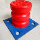 聚氨酯缓冲器C型铁板式 200*250红色实心防撞块 行车碰头减震器 垃圾吊防撞器
