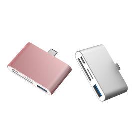 厂家直销3.0type-c手机读卡器多功能HUB