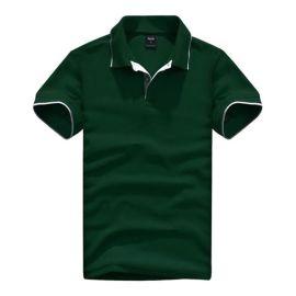 拓吉凯工作服P301-0500绿色纯棉拉架珠地素色POLO衫