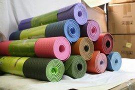 高档TPE双层双色双纹路瑜伽垫 ,健身运动垫 ,地板防滑垫, 户外活动垫