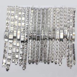 瑞美泰钛钢锗手链首饰品 磁疗保健手链 抗疲劳不锈钢手链锗粒