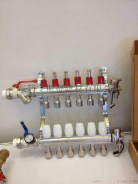 现货供应 地暖纯铜分水器 地暖分集水器