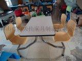 曲木餐桌椅,连体曲木餐桌椅,广东鸿美佳厂家专业供应曲木餐桌椅