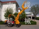 厂家直销小型轮式抓草抓木机拖拉机改装秸秆抓取机