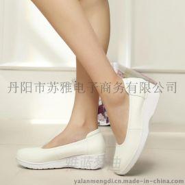 雅蓝梦迪6007真皮气垫护士鞋