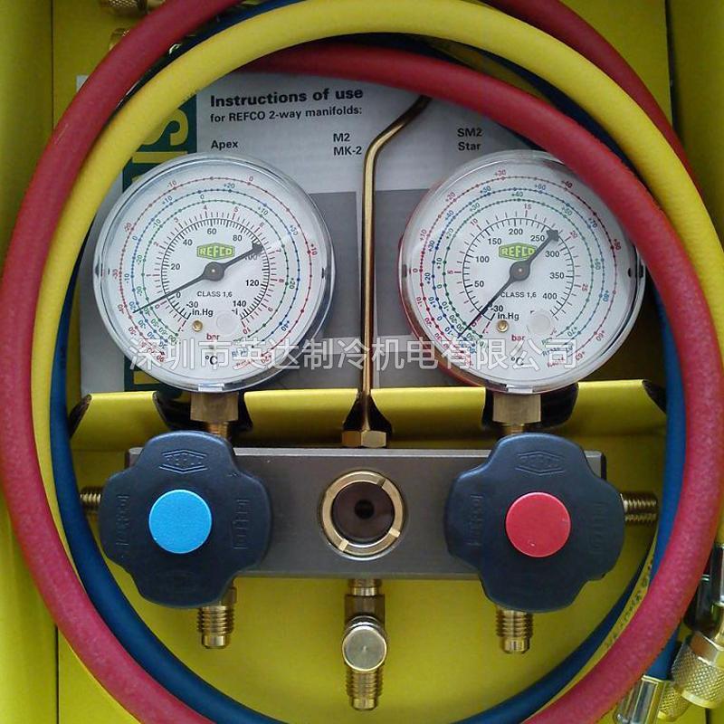 威科压力表,充氟压力表组,空调加液表