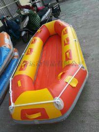 漂流船充氣漂流艇釣魚船衝鋒舟滑雪船6人3.5米野漂野釣景區定制充氣船