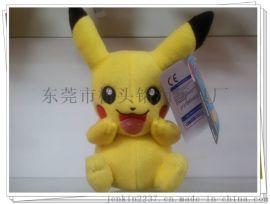 皮卡丘pikachu毛绒玩具东莞厂家定做精灵宝可梦