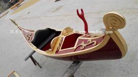 吉林河北北京木船厂家出售3米高档小型装饰贡多拉船