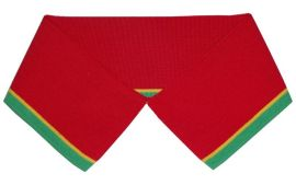 红色+夹条横机罗纹领【龙爱针织】