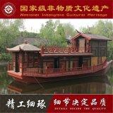 云南山西木船厂家出售出售大型仿古画舫木船 浙江横店手工定做