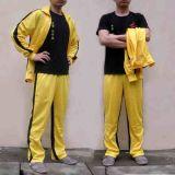 李小龙黄色运动套装双节棍运动服外套男士休闲春秋翻领开衫两件套