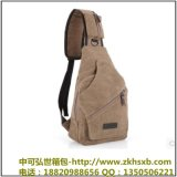 廠家直銷韓版休閒男士胸包運動帆布男包小包包多功能戶外小包