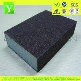 金刚砂海绵砂块 抗扭曲100*70*10mm 60#粗砂海绵磨块SK60Z