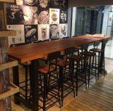 復古酒吧桌椅 高腳吧臺吧椅組合鐵藝實木長條桌