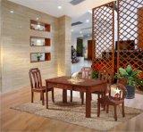 恒岳家具高档水曲柳餐桌 现代中式纯实木餐桌椅组合长条饭桌椅子