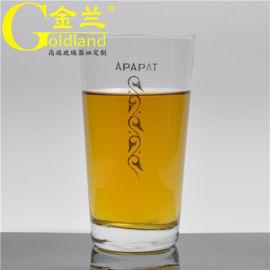 礼品广告定制LOGO玻璃酒杯饮料杯,直身茶水杯