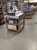 大沣DF-175精品超市堆头货架展柜进口食品进口商品铁木结合货架尺寸层高