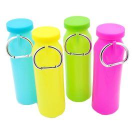 新品硅胶运动水壶 可折叠硅胶水袋 便捷旅行水杯 硅胶折叠水瓶