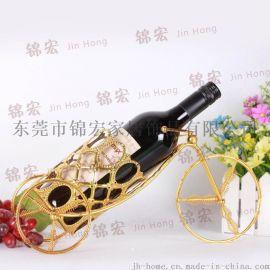 酒架 創意精工時尚鐵藝紅酒架飾品 家居飾品廠家直銷