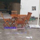 現貨 樓盤小區戶外組合折疊實木桌椅 戶外木制餐桌椅 廠家直銷
