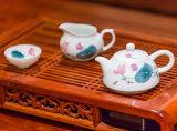 【银银瓷器】醴陵陶瓷工艺品飘香茶具套装泡茶器手工釉下五彩瓷茶具定制