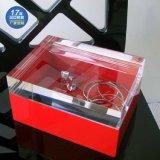 珠宝首饰展示盒亚克力白色珍珠收纳展示盒子密封盒子